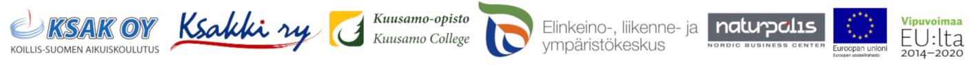 Luontomatkailun opaskoulutus -hankkeen osallistujien logot