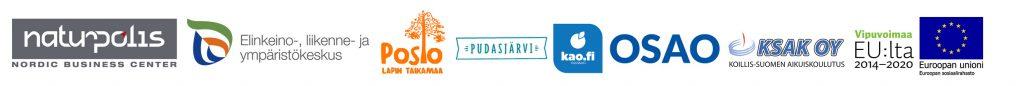 JobBoost Koillis-Suomi -hankkeen ostallistujien logot